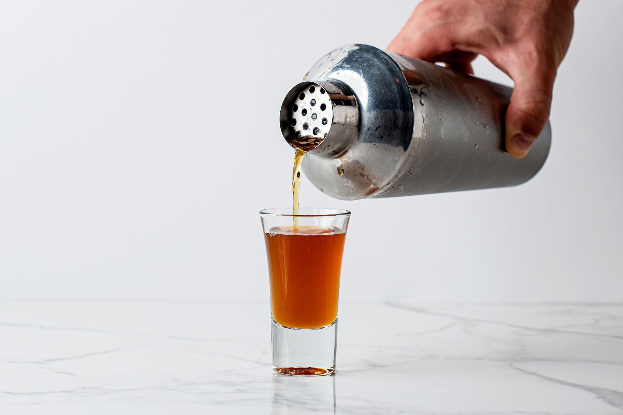 Straining a Stone-Cold Stinger Shooter (aka Liquid Cocaine Shot)