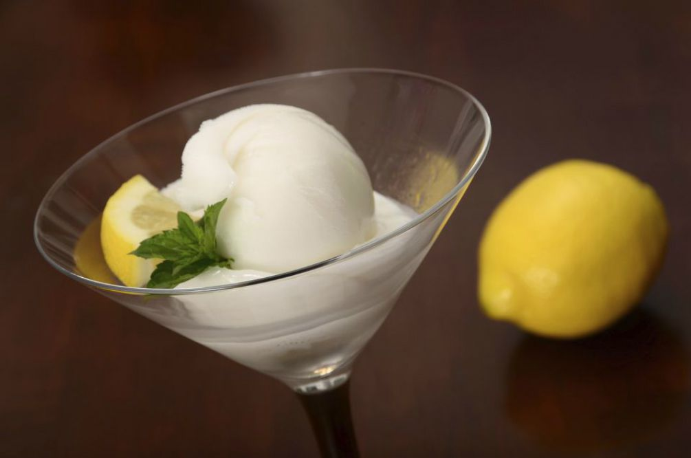 Vodka Lemon Sorbet