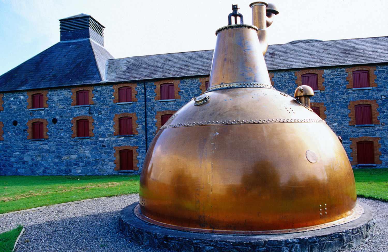 Copper pot still at Old Midleton Distillery in Ireland
