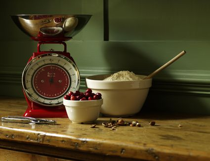 Baking ingredients sit on table