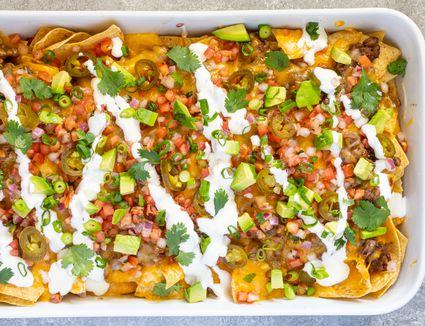 pan of nachos