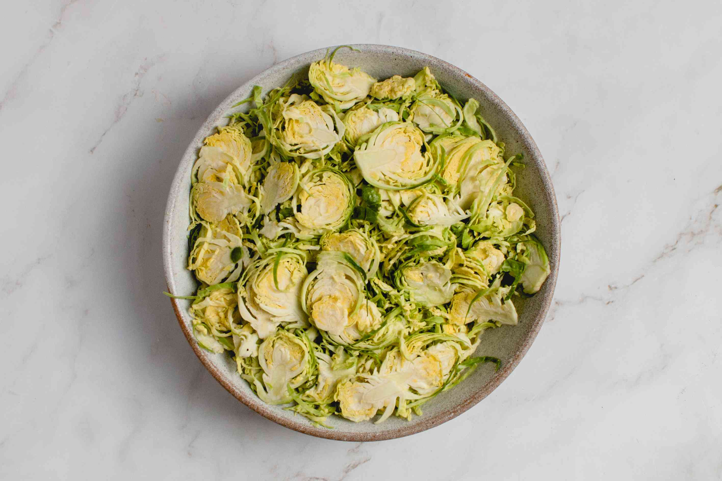 Brussels Sprouts cut lengthwise into pieces