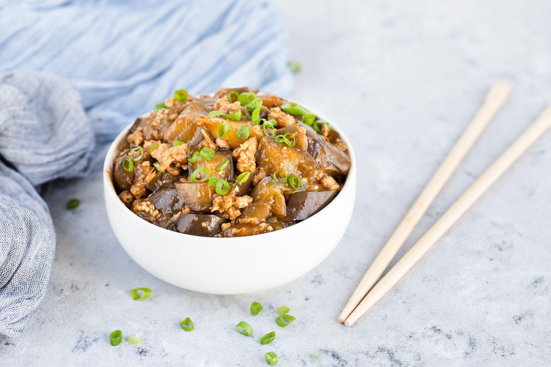 Szechuan Eggplant in Garlic Sauce