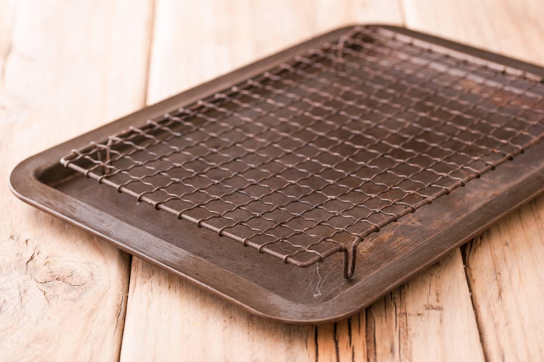 Baking rack in a jellyroll pan