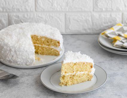 Fresh coconut layer cake
