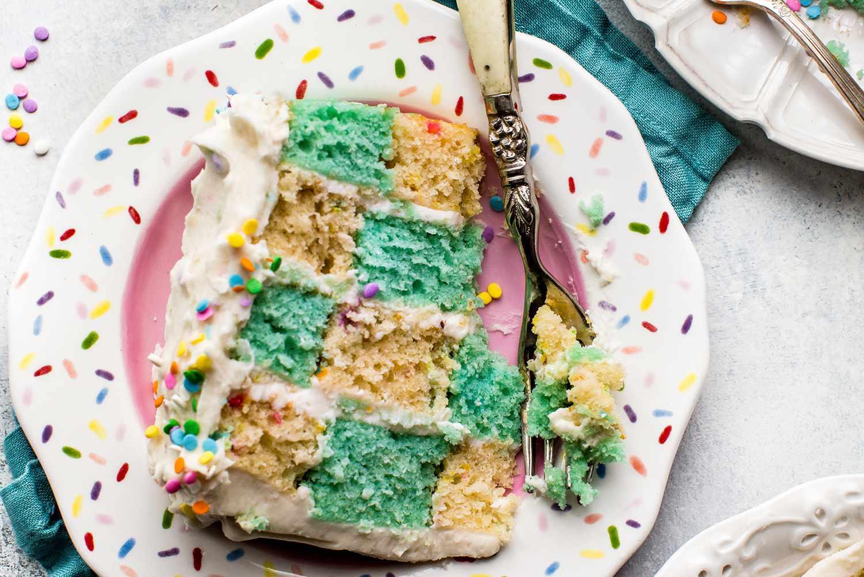 Checkerboard Funfetti Cake