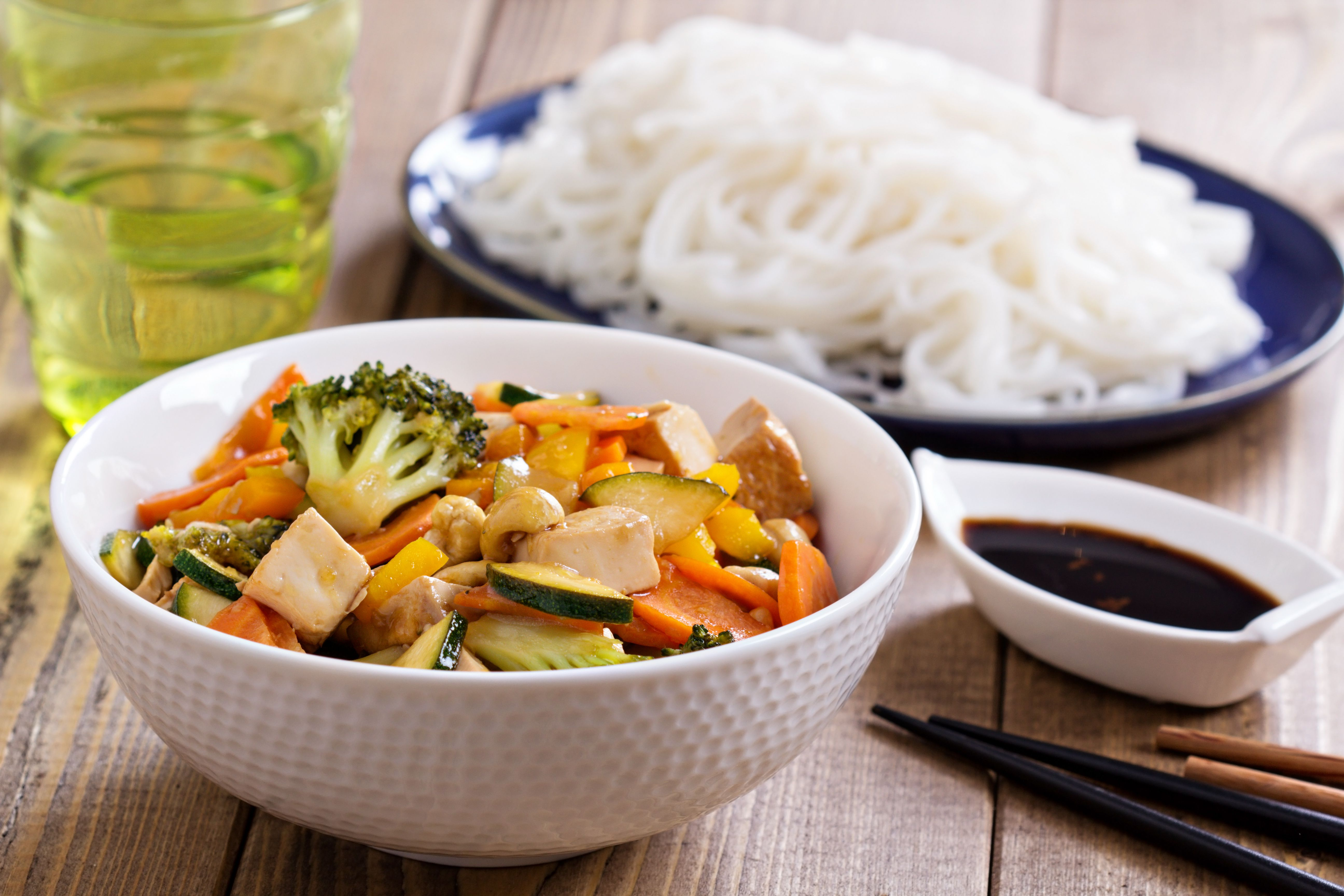 Simple vegan tofu and vegetable stir fry with ginger recipe forumfinder Image collections
