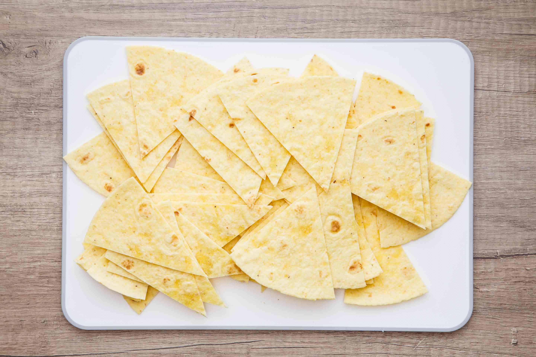 Tortillas cut into wedges