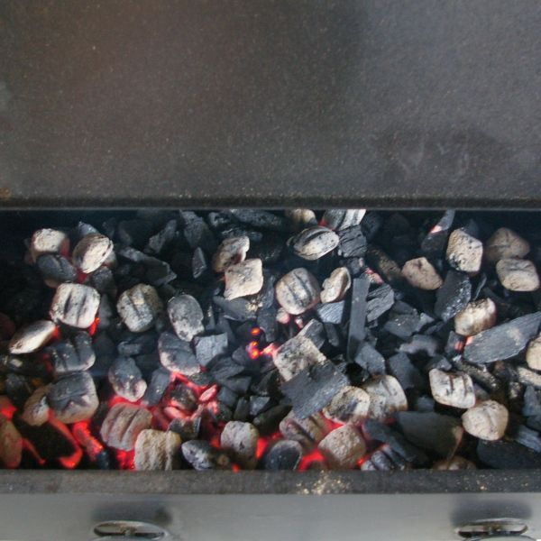 Burning Coals in the Smoker