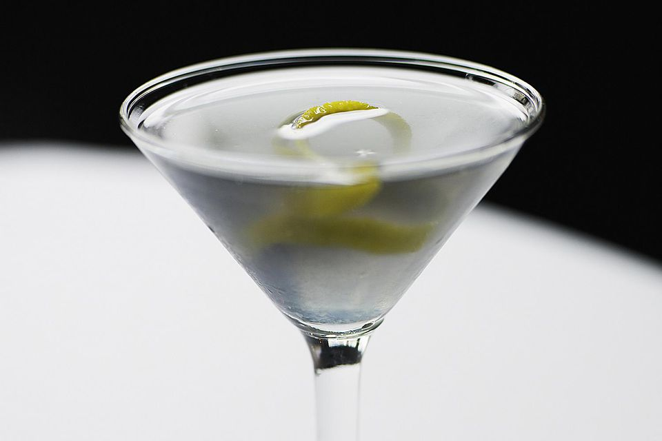 A glass of James Bond's vesper martini