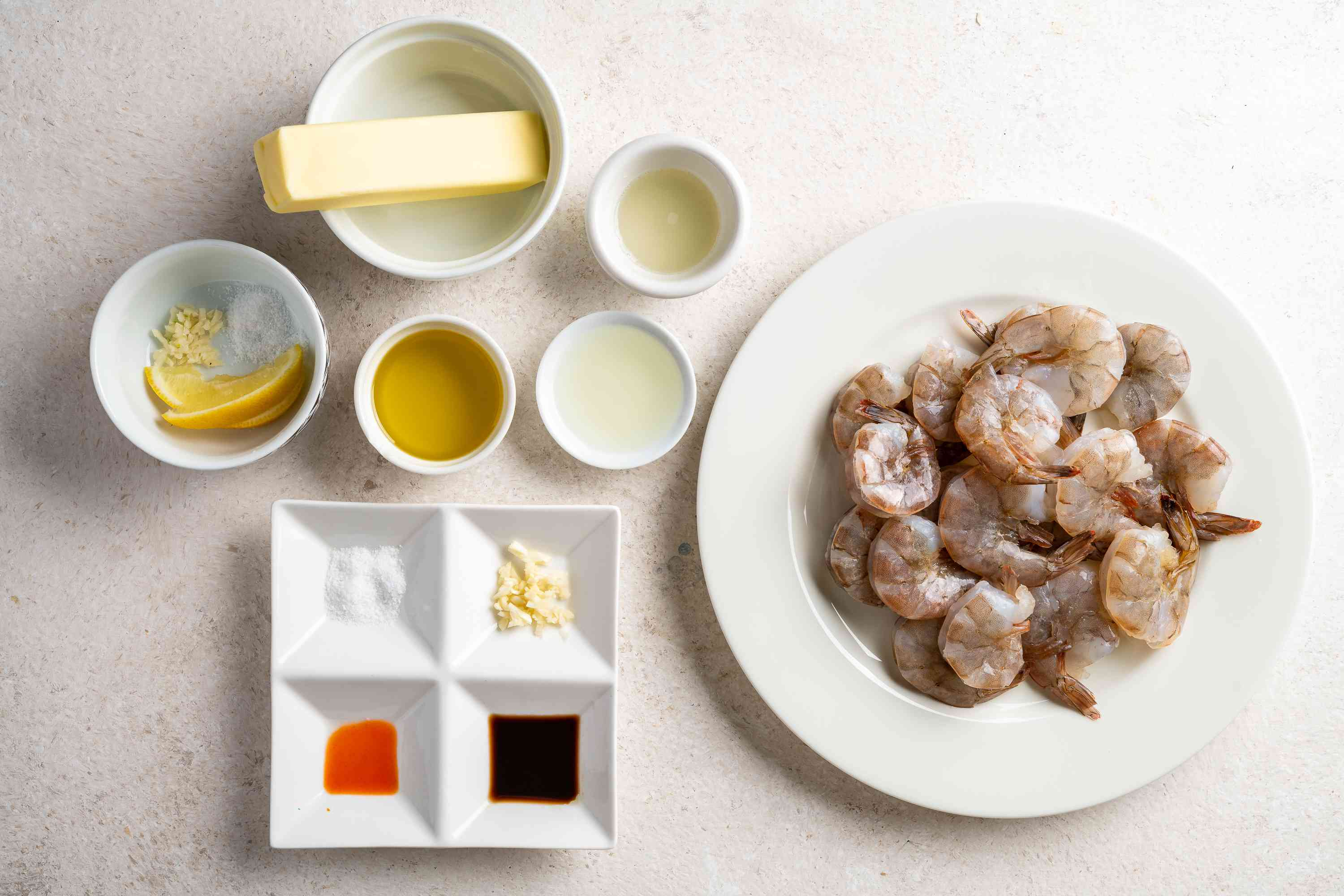 Grilled Shrimp With Garlic Butter Dipping Sauce ingredients
