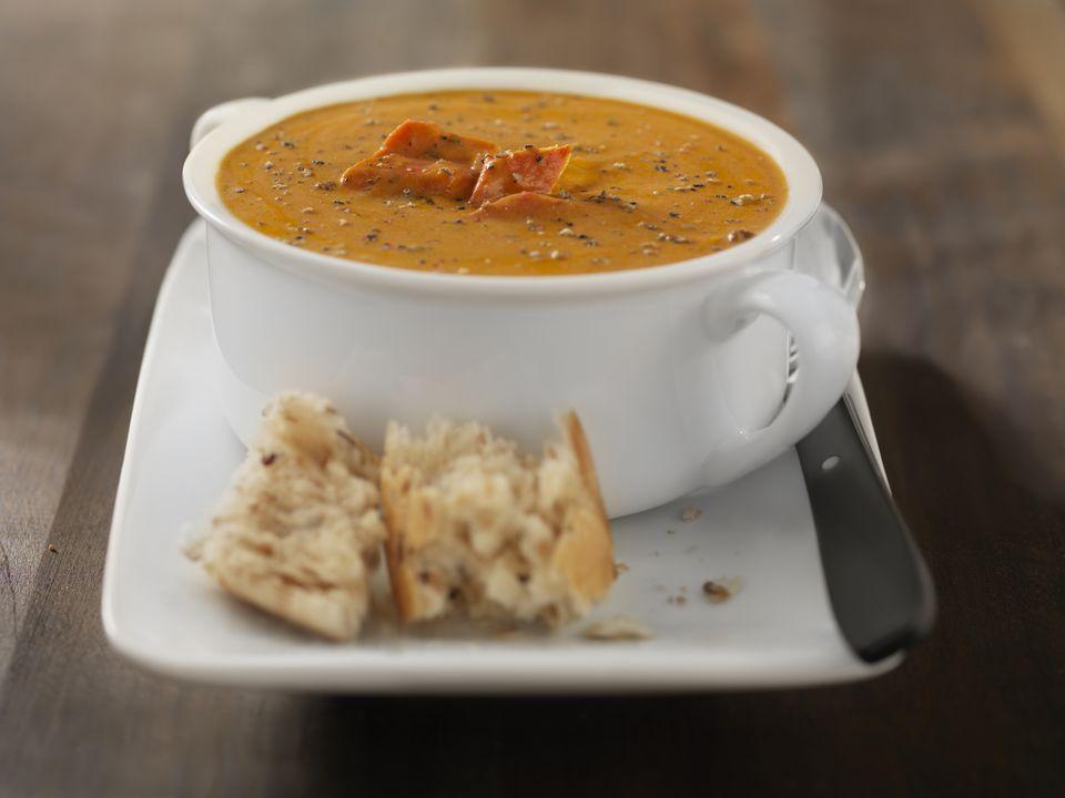 sopa de langosta al estilo francés