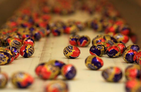 Cadbury Creme Eggs on the production line