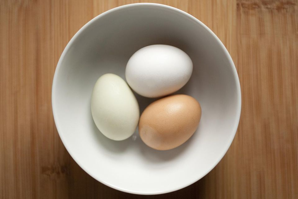Free range eggs in bowl