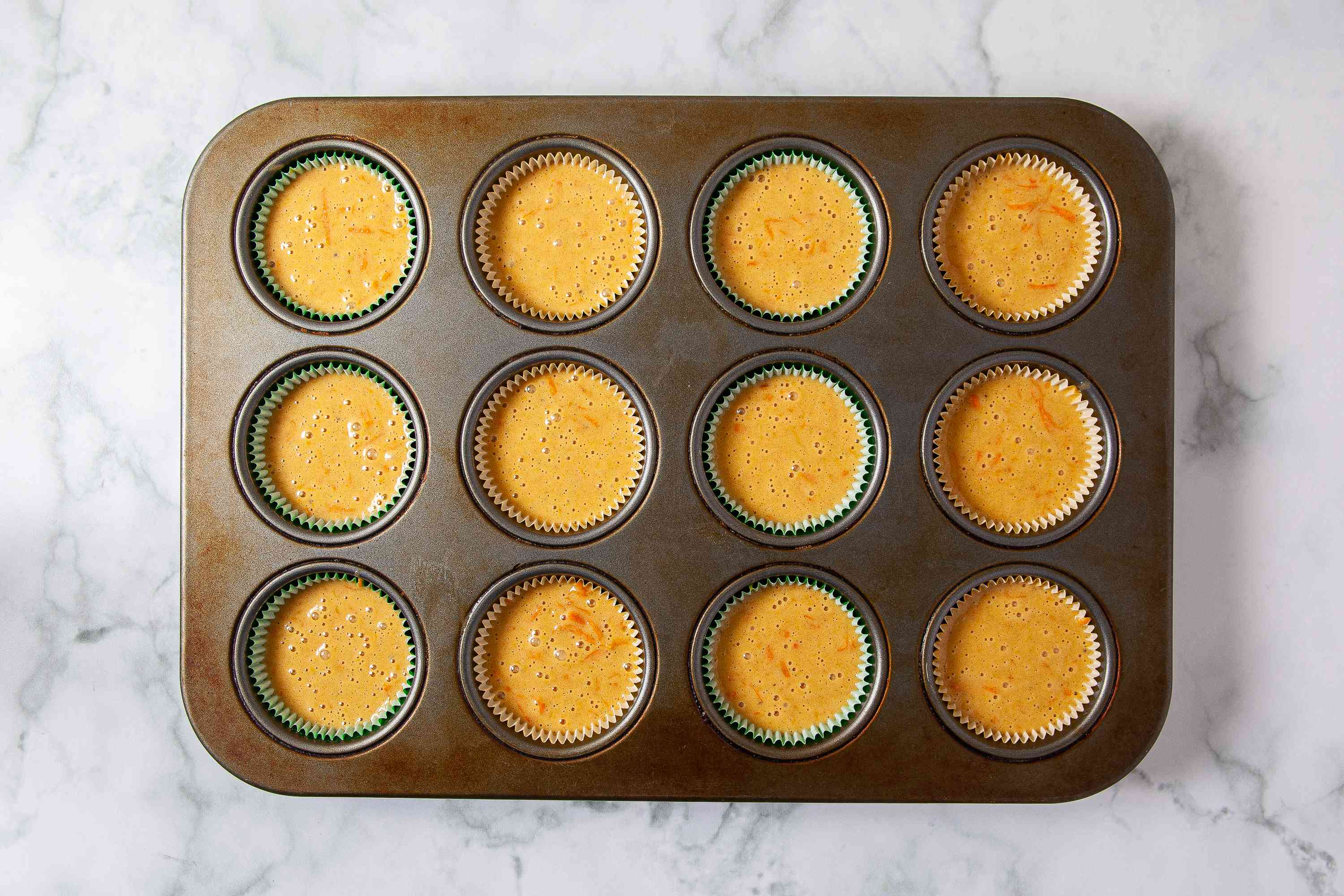 Carrot Cake Cupcakes ready for baking