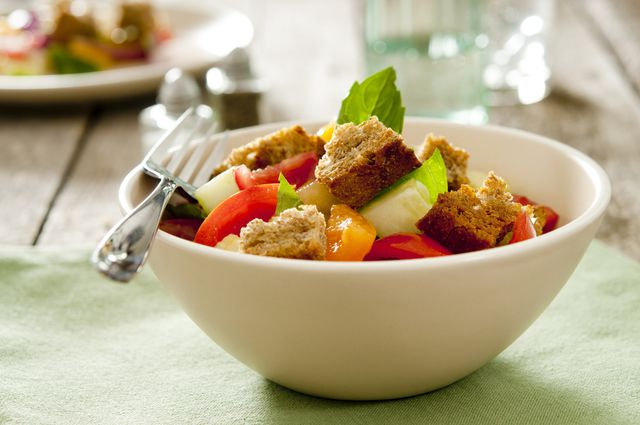 Summer Tomato, Pepper and Bread Salad