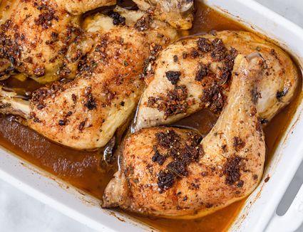 Garlic roasted chicken leg recipe