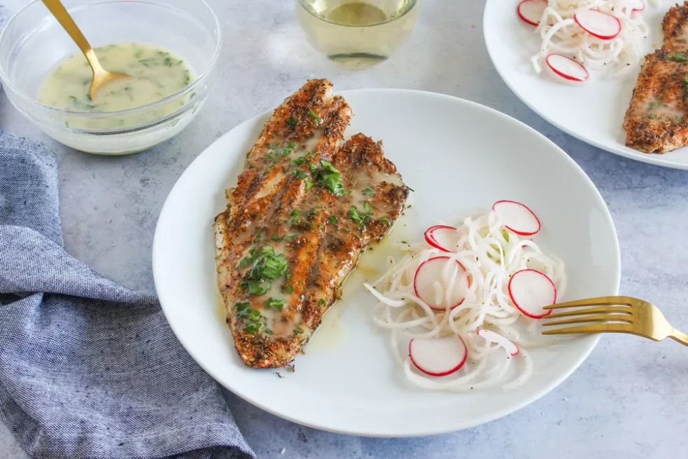 Grilled Blackened Red Snapper