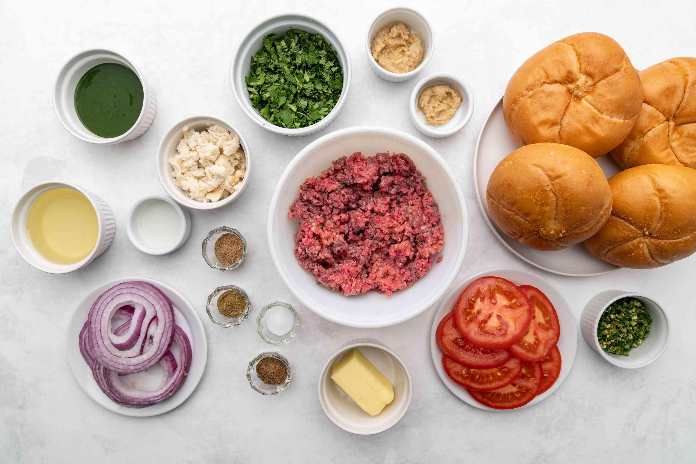 Desi Indian-Style Burger (Indi-Burger) ingredients