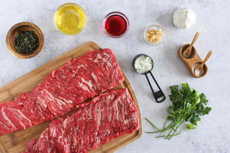 Ingredients for traditional churrasco skirt steak