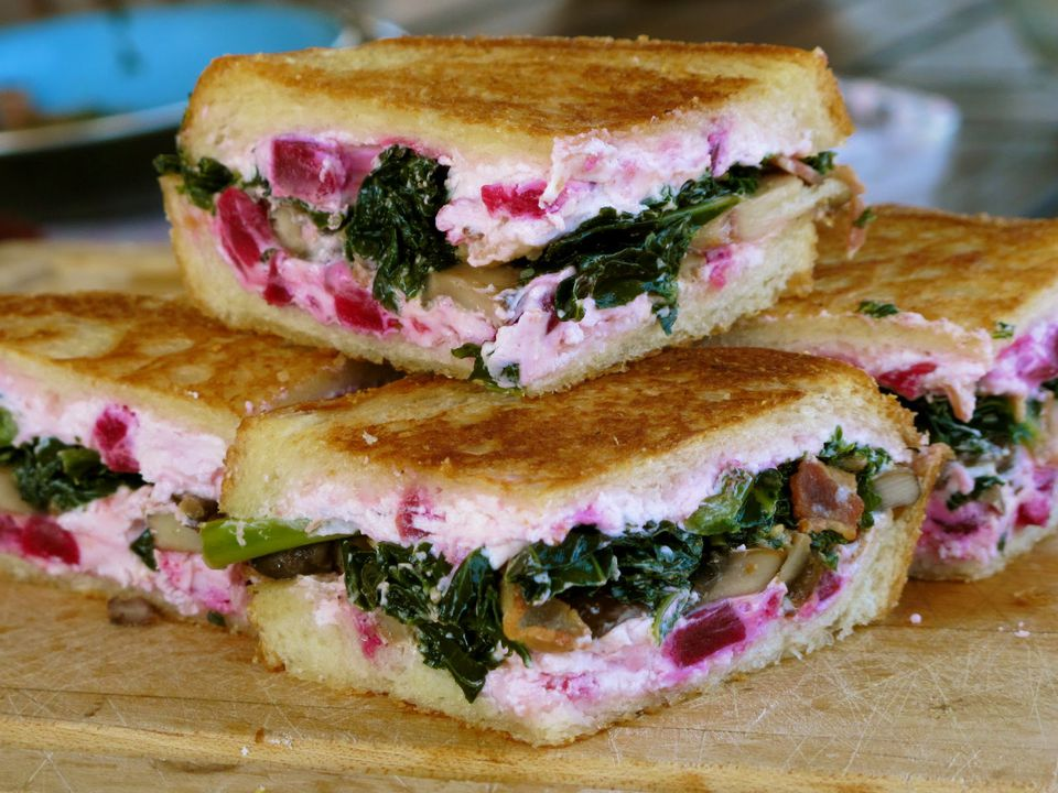 beet and kale grilled cheese