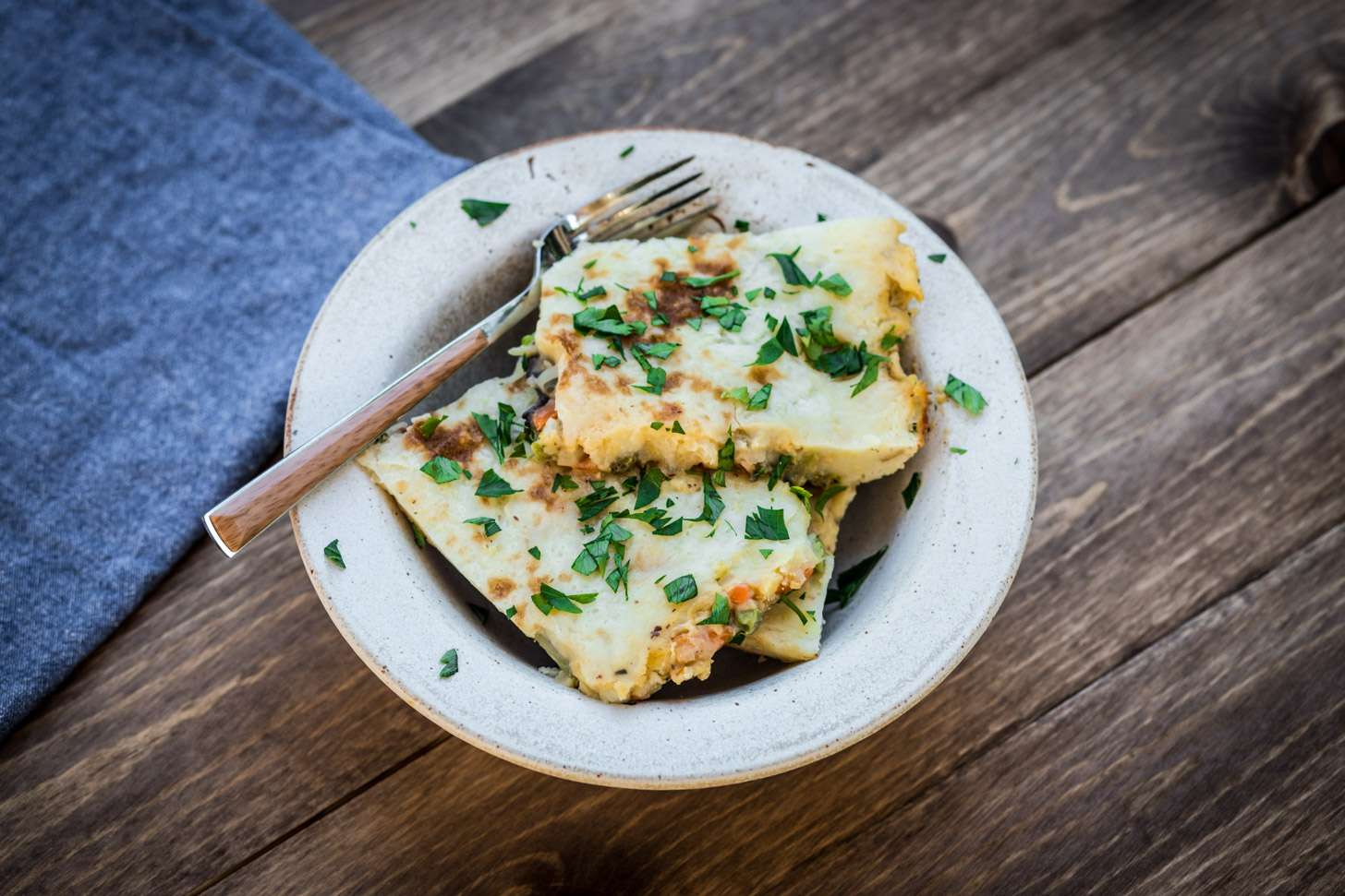 Creamy vegetarian shepherd's pie recipe