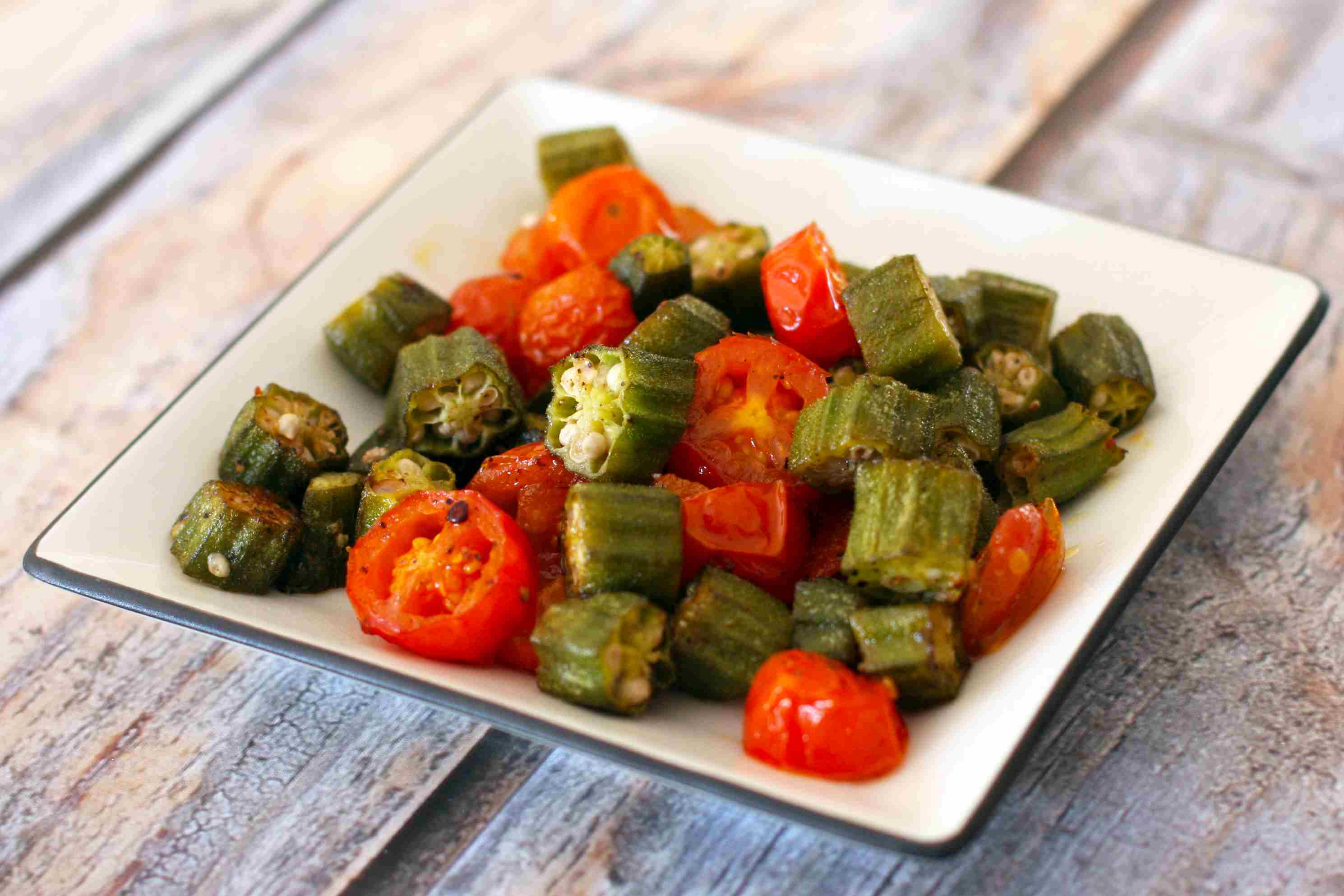 roasted okra and tomatoes