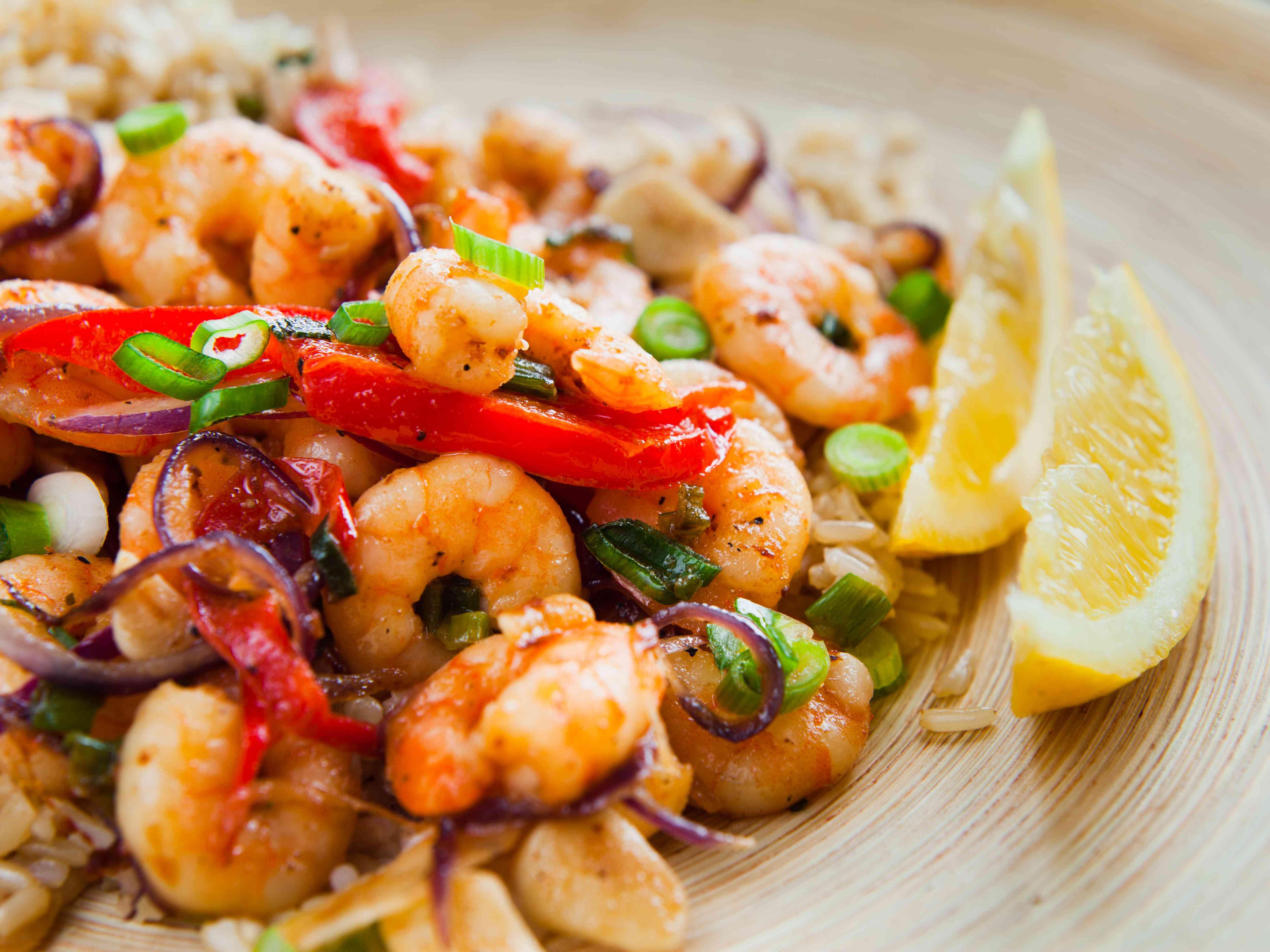 Shrimp rice