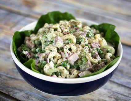 Macaroni Salad with Ham and Peas