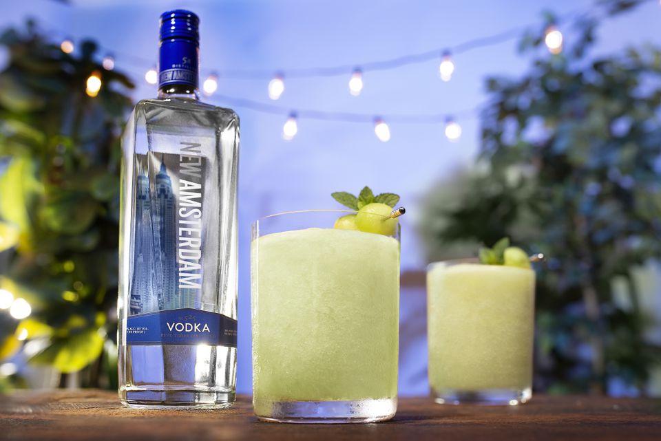 New Amsterdam Vodka and Frozen Melon Cocktail