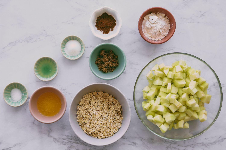Low-Calorie Apple Crisp ingredients