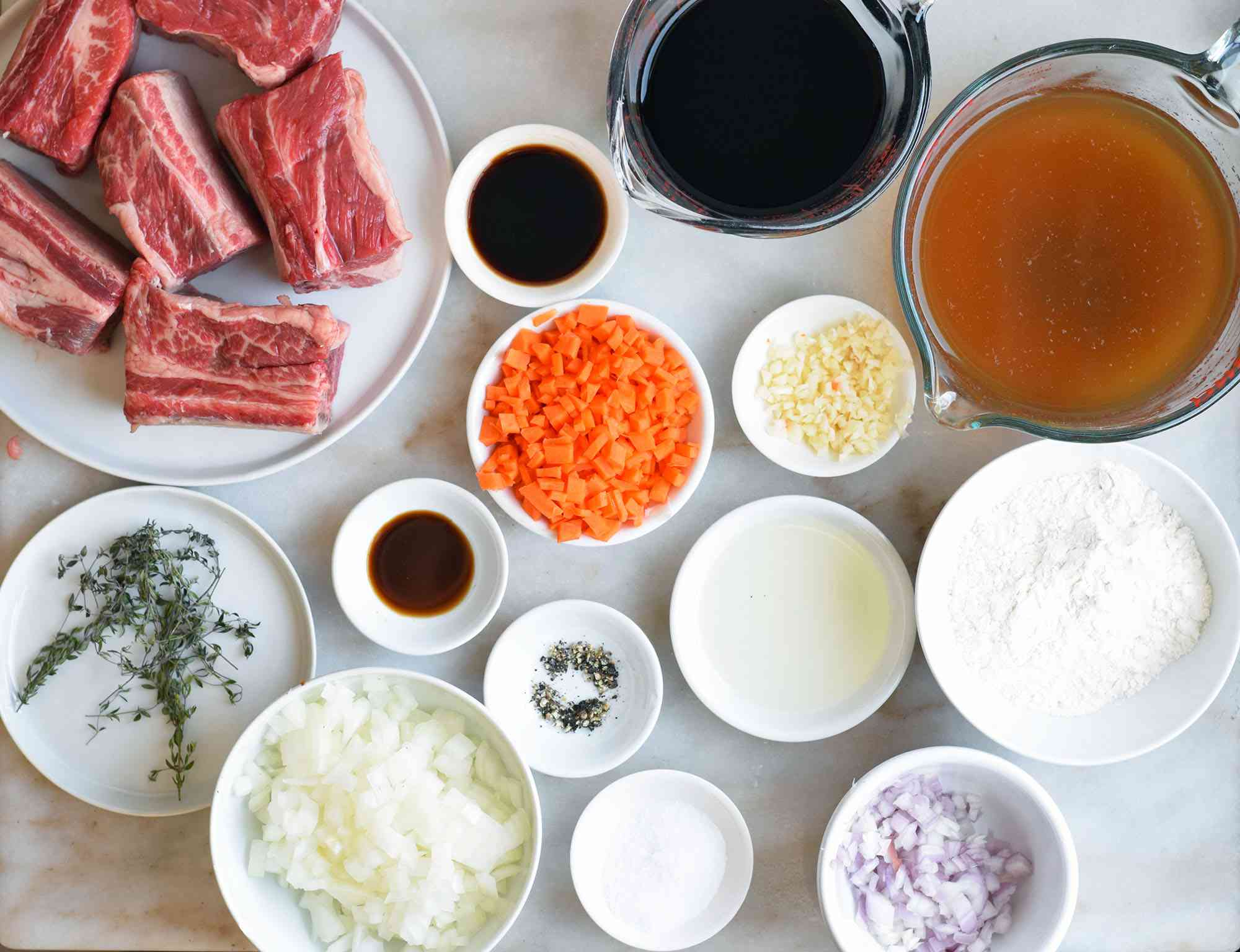 Ingredients for Instant Pot short ribs