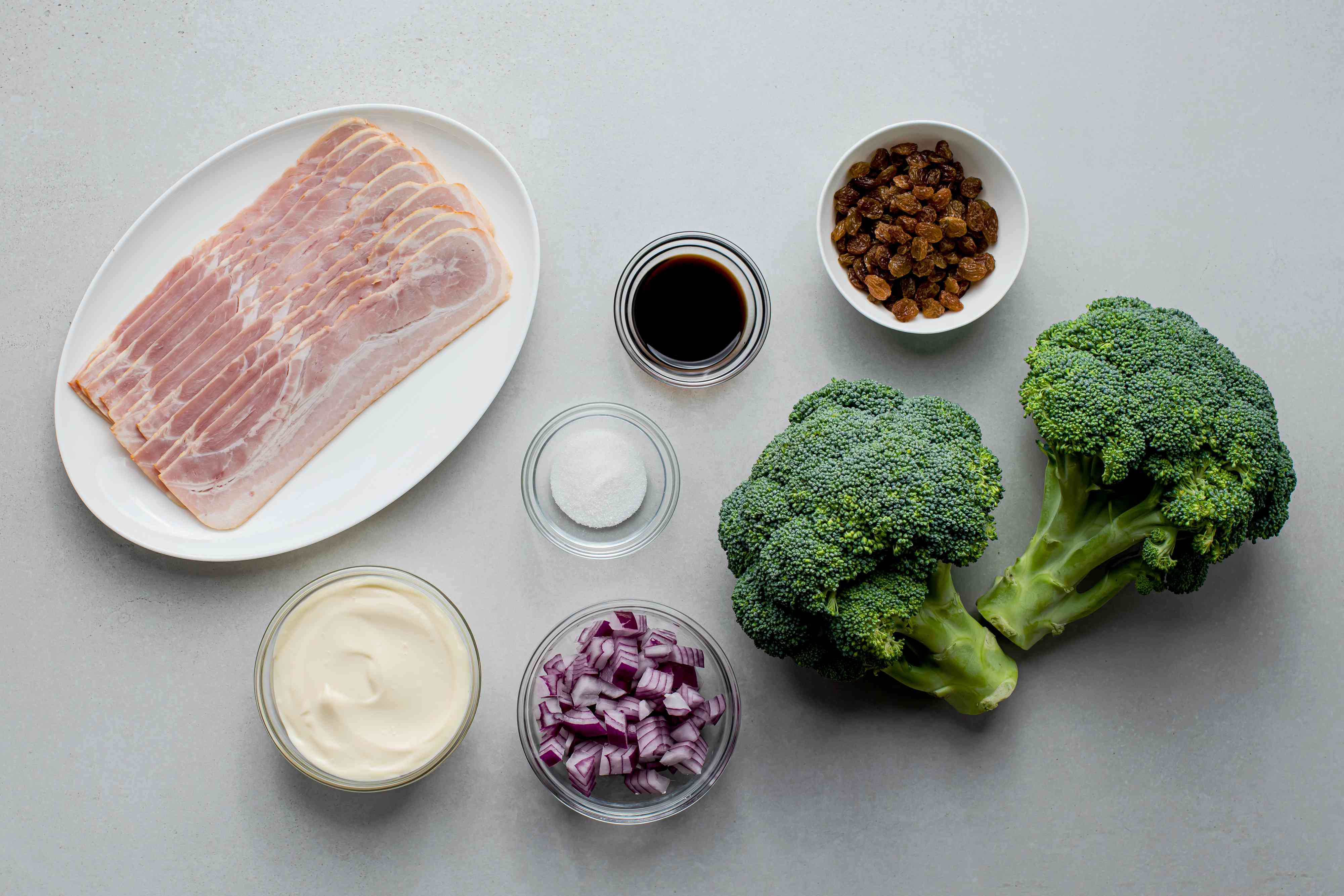 Broccoli Bacon Salad ingredients