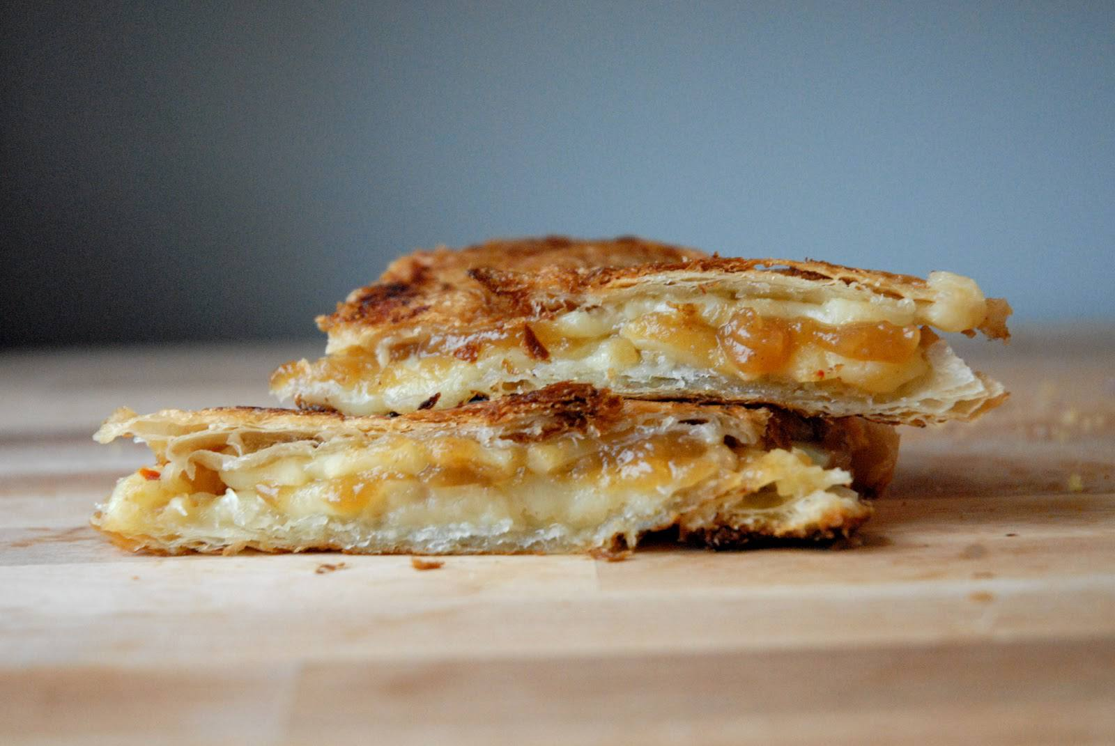 Apple Butter, Pepper Jack, and Croissant Grilled Cheese