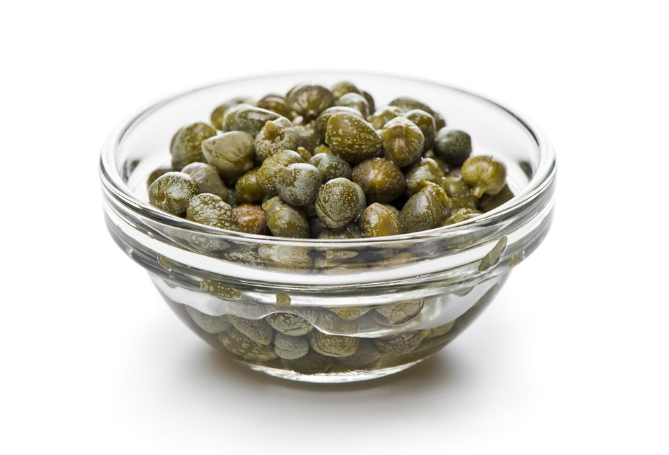 A bowl of capers