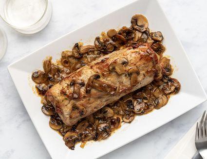 Veal Roast With Mushrooms