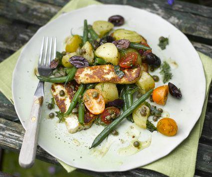 Halloumi and Green Bean Salad