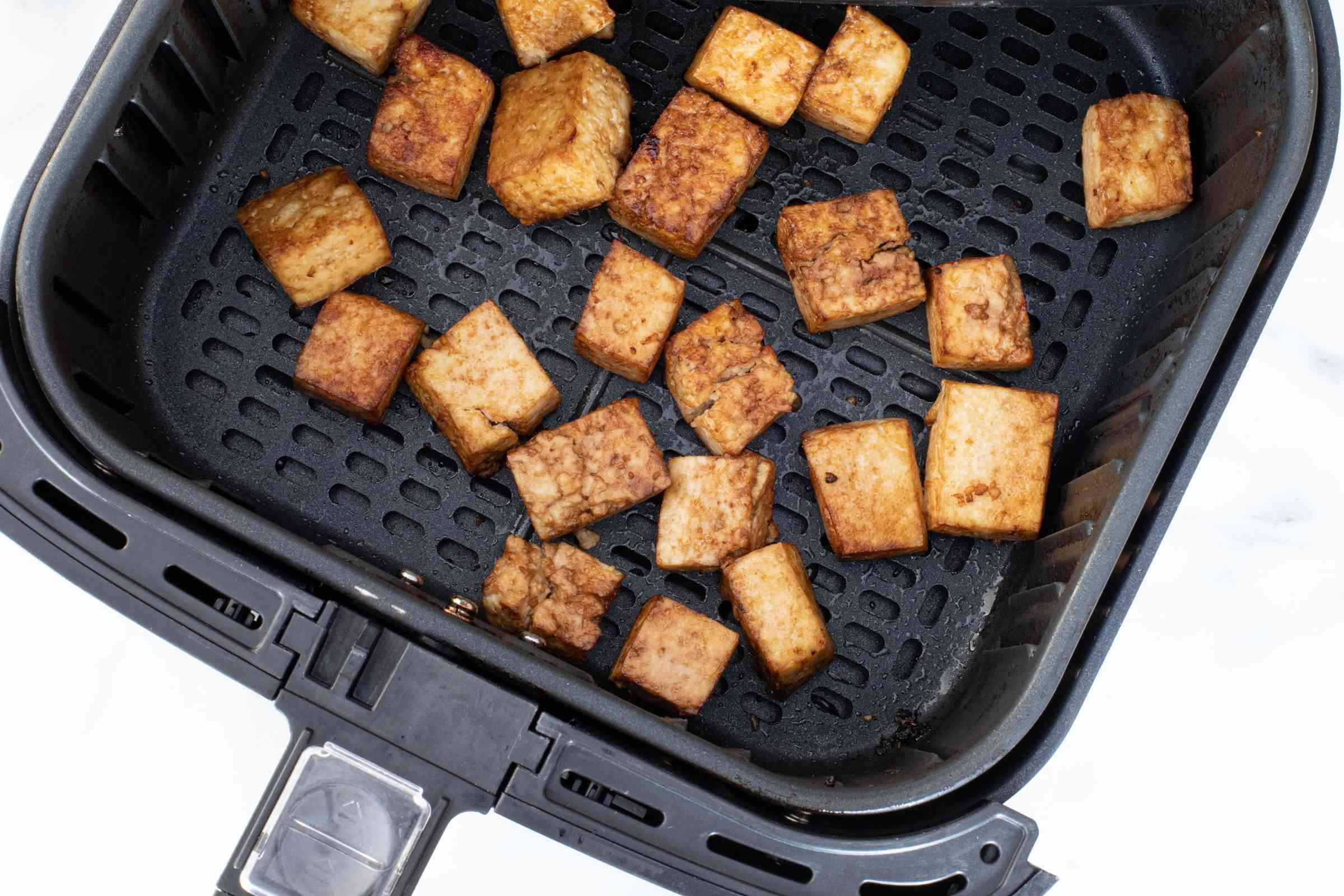 tofu cubes in the air fryer