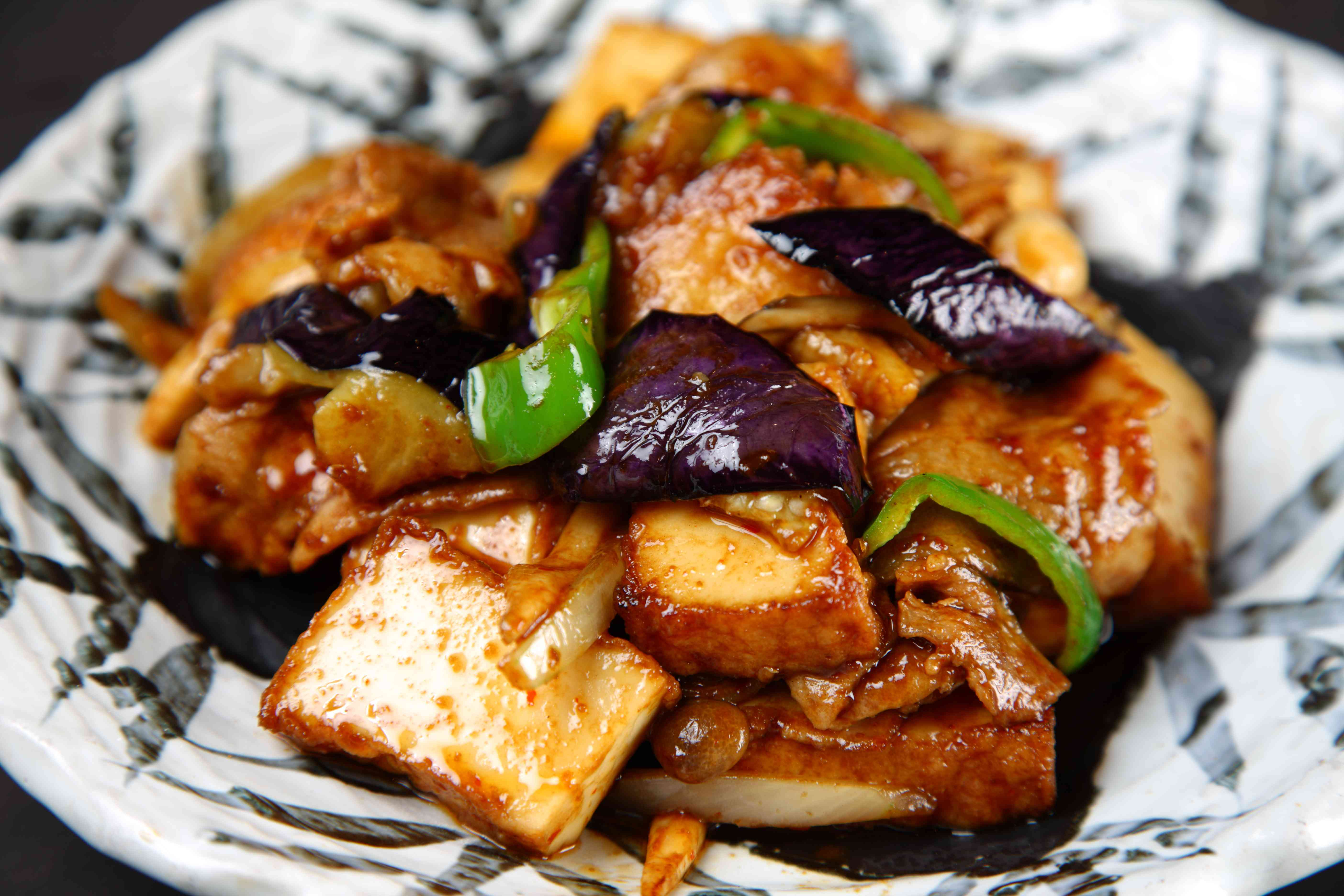 Thick fried tofu and eggplant miso Seasoned stir-fry