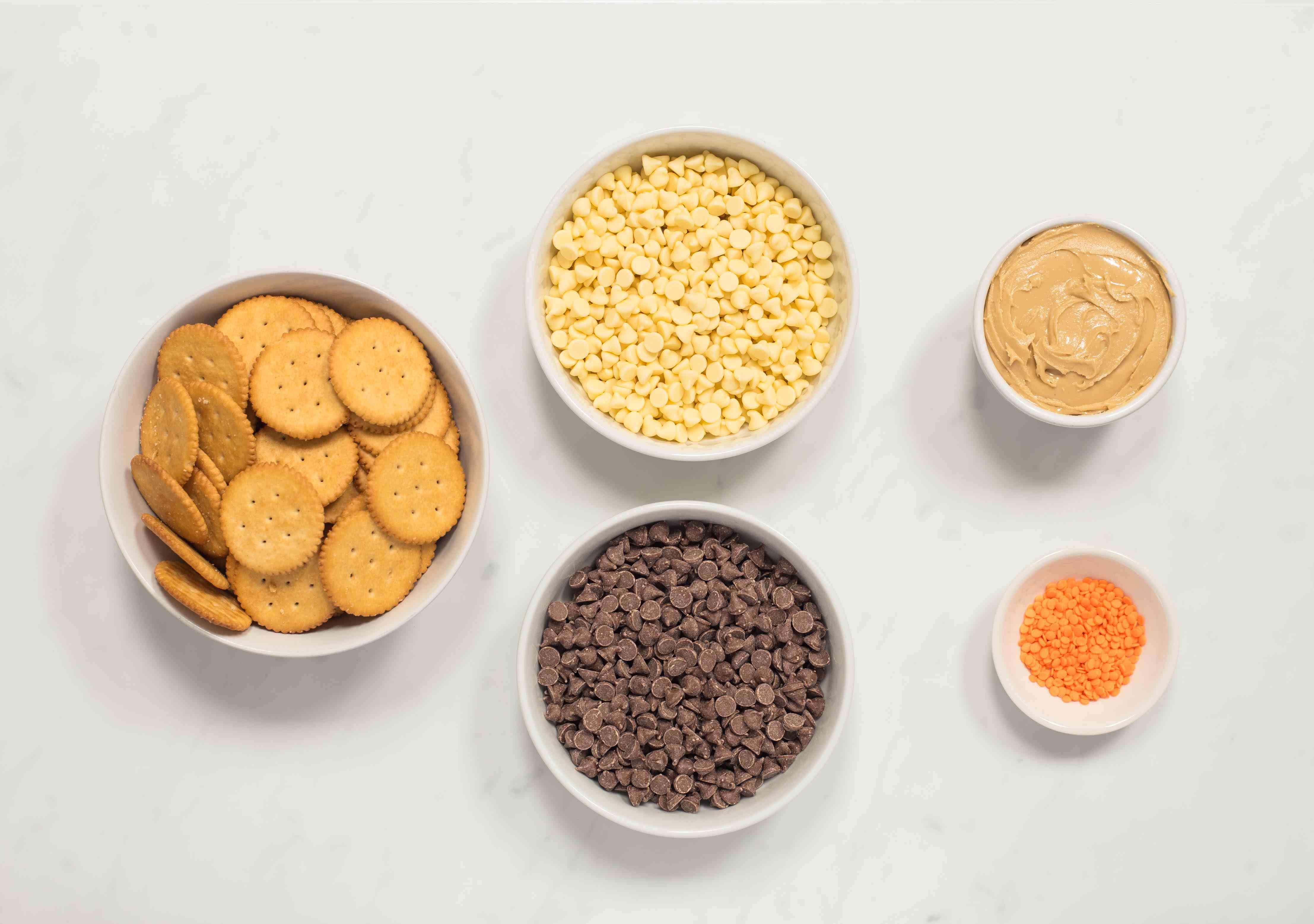 Ingredients for Halloween cookie treats