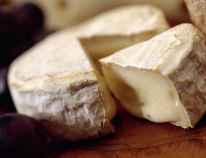 Closeup of Camembert cheese