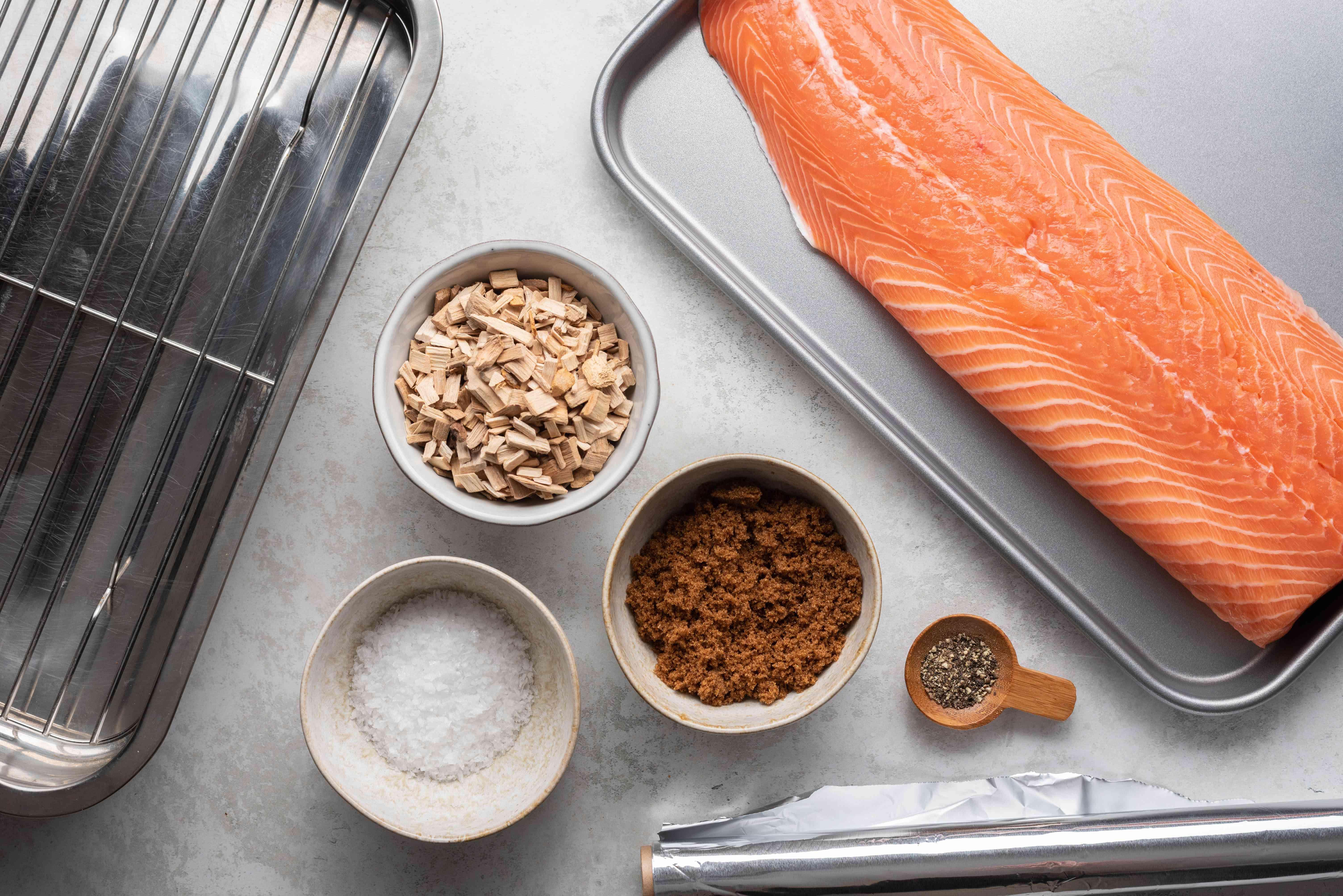 Stove Top Smoked Salmon ingredients