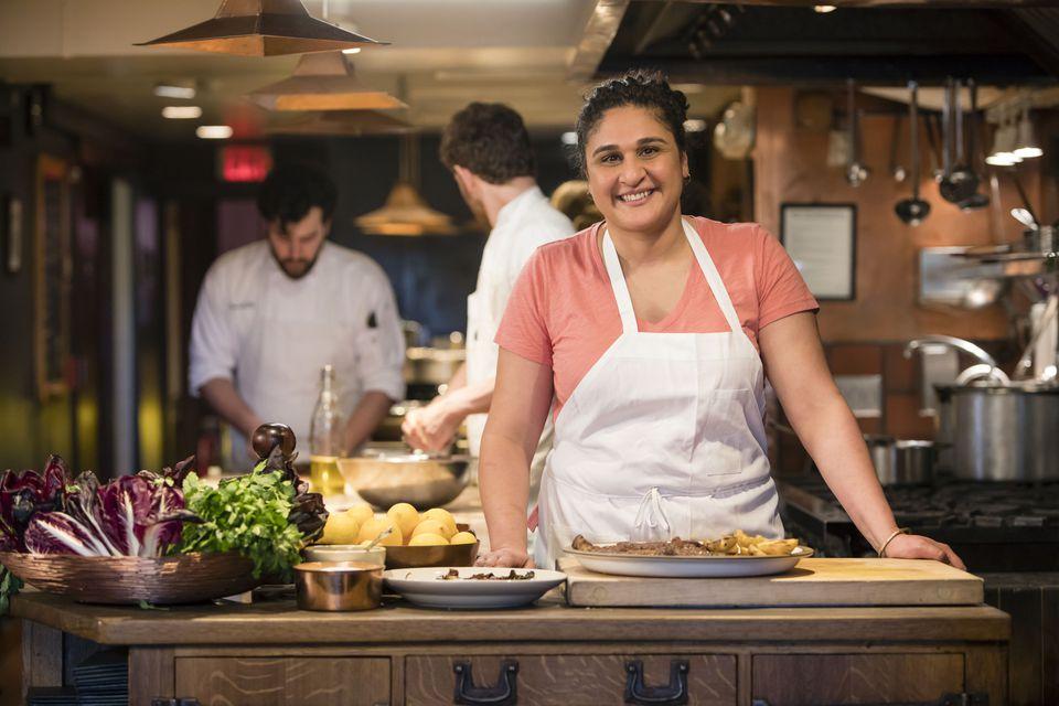 chef samin nosrat in a kitchen