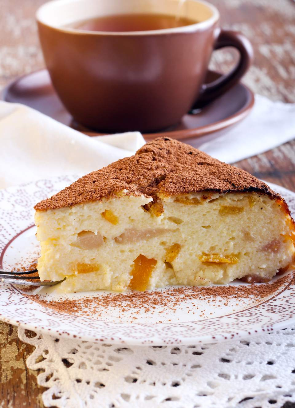 Ricotta and pear cake