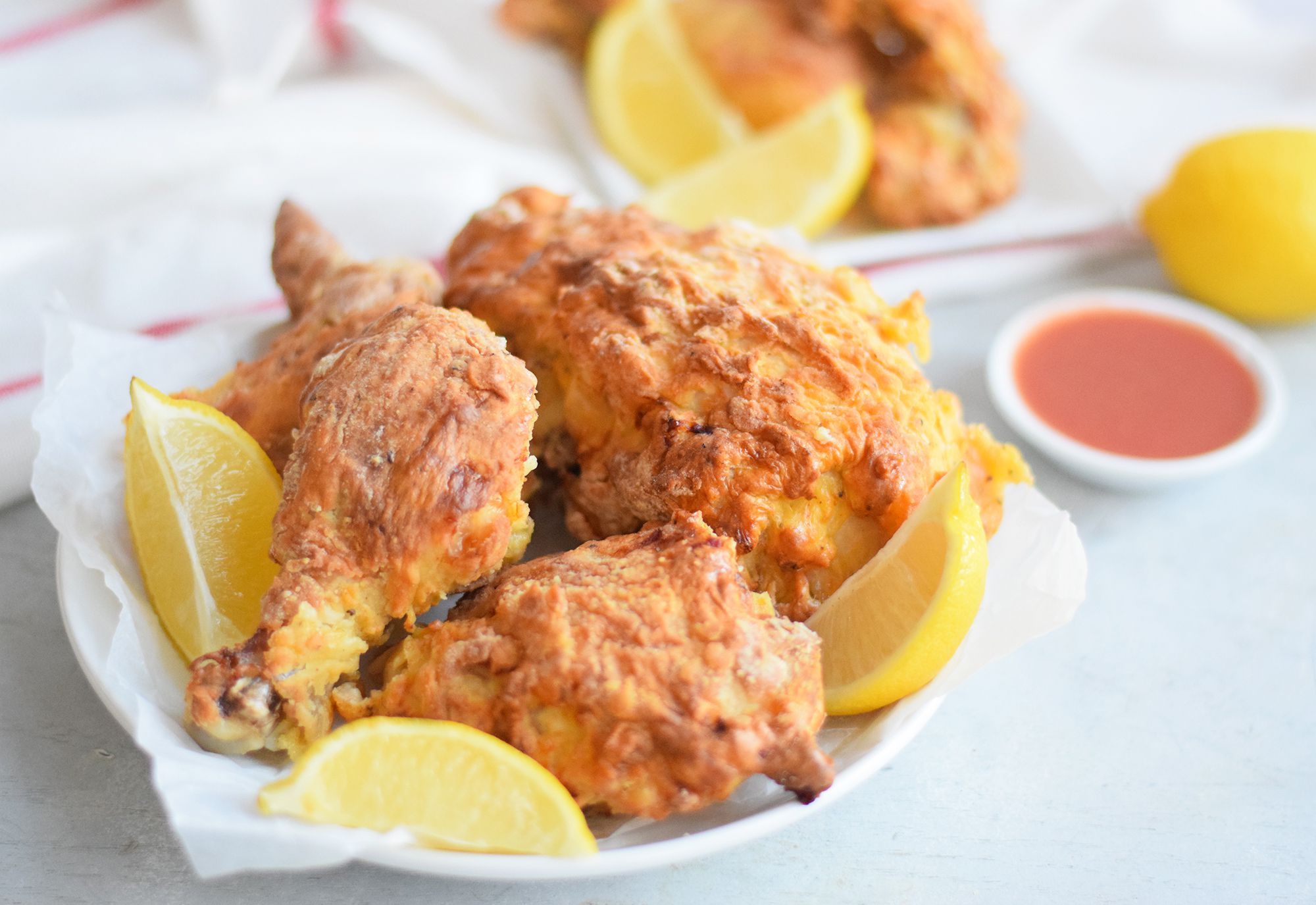 You Barely Have to Use Any Oil to Make Crispy Golden Air Fryer Fried Chicken