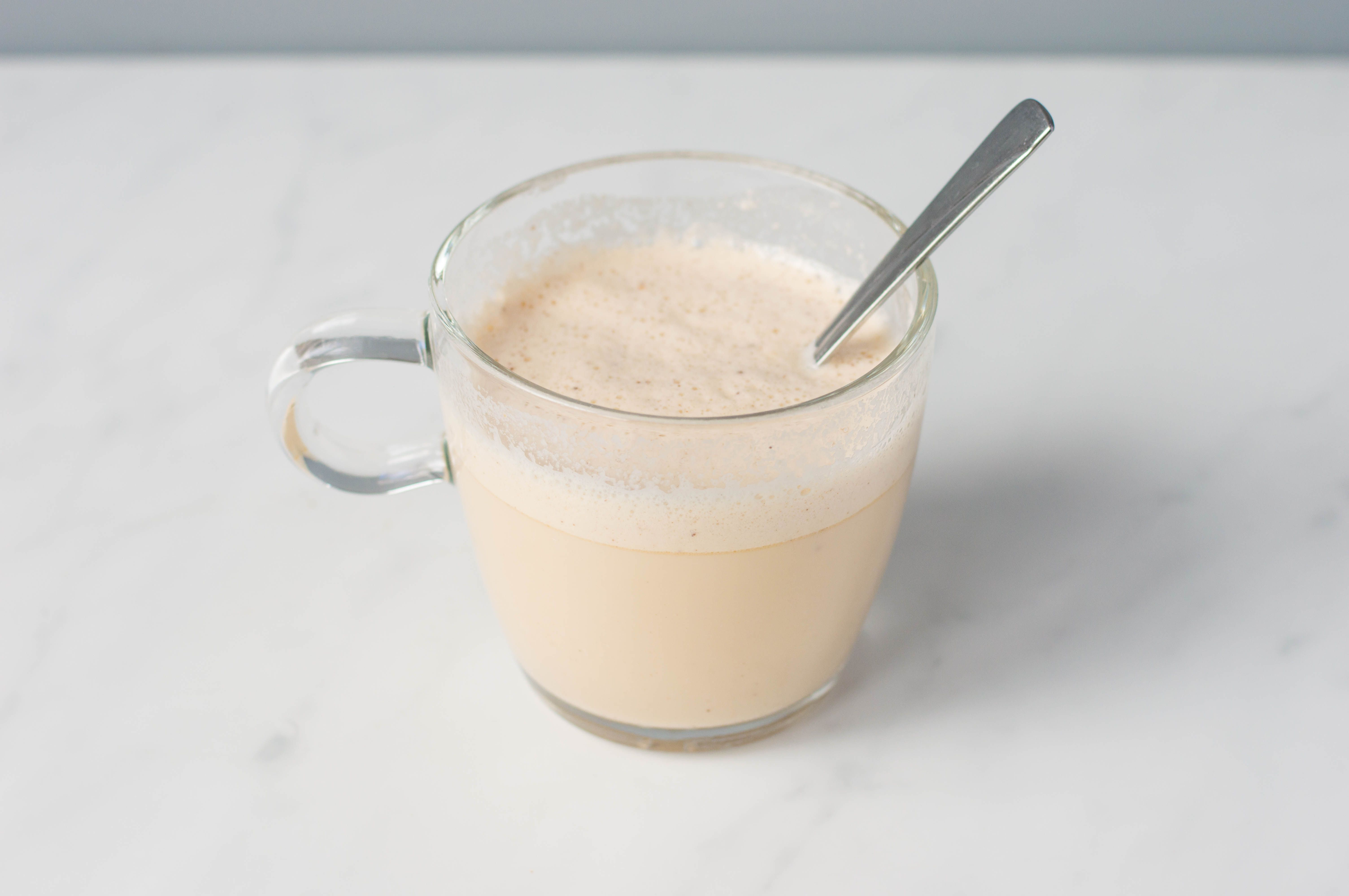 Tom & Jerry cocktail filled with hot milk