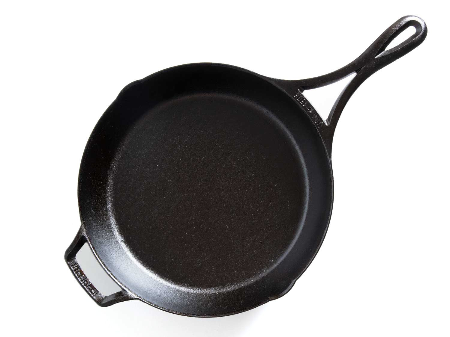 The Lodge Blacklock skillet on a white background.