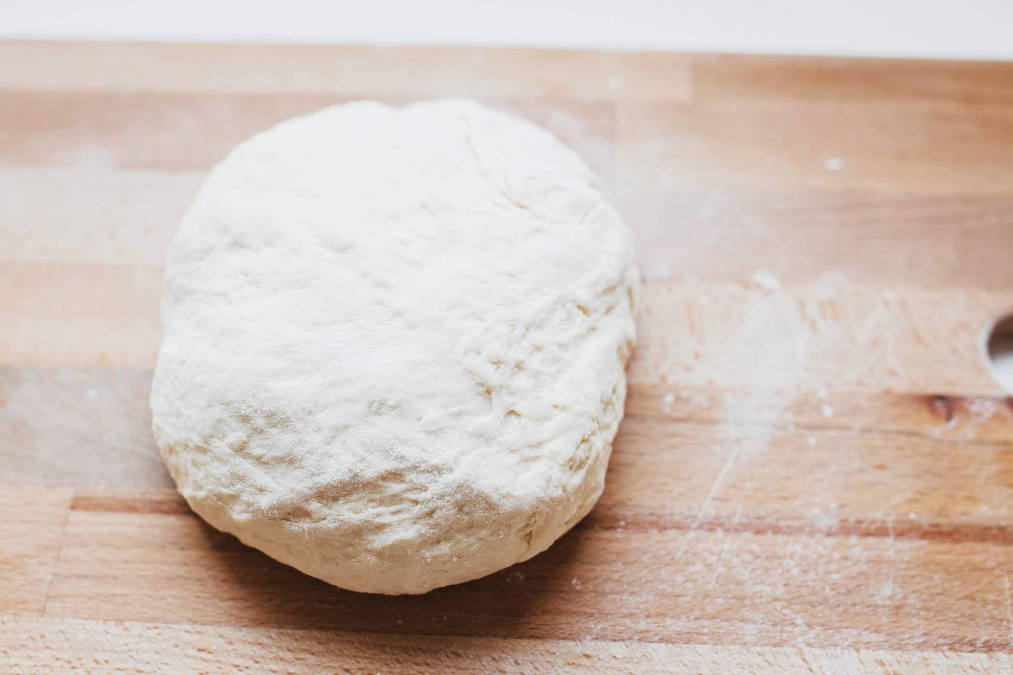 Turn the dough on a lightly floured surface