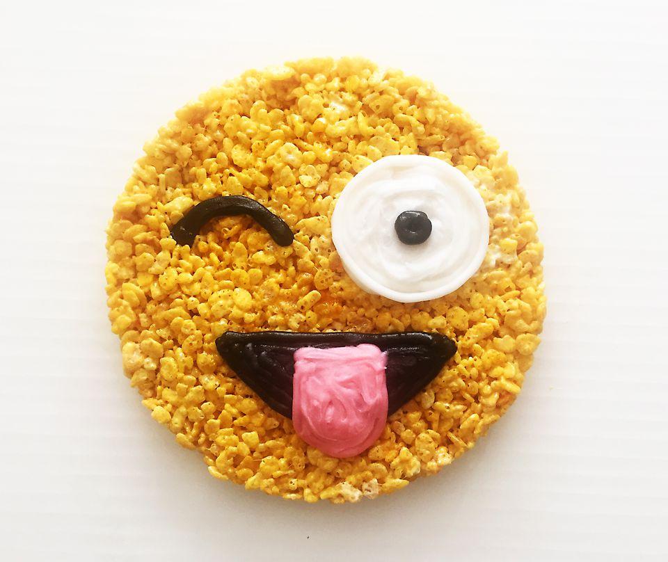 emoji rice krispy treat