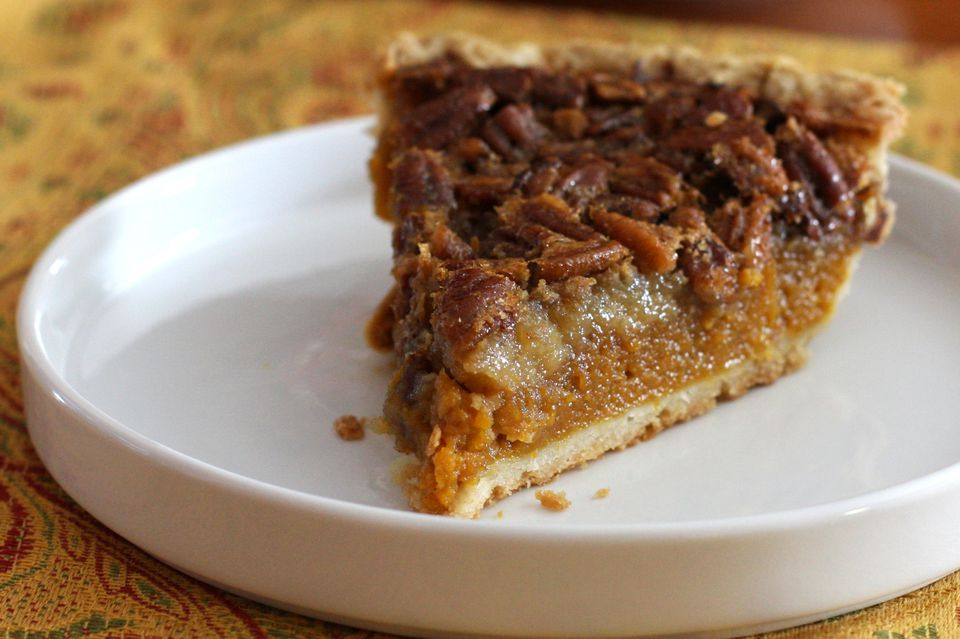 Pecan Topped Sweet Potato Pie